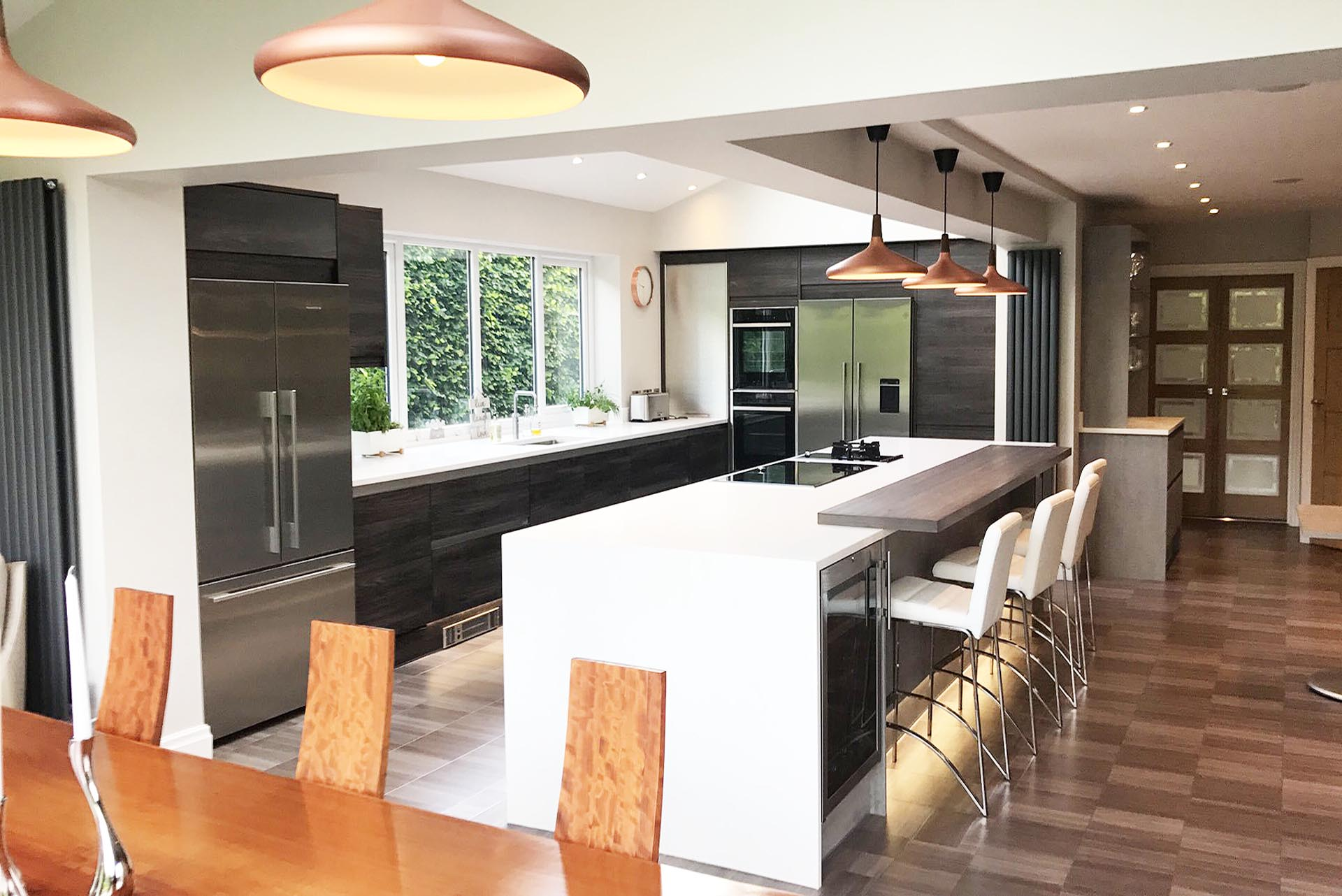 Burbidge Otto Concrete Dark Elm Isala Kitchen
