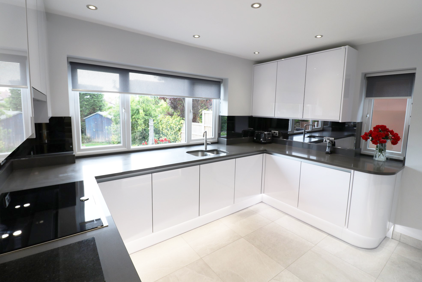 High Gloss Kitchens Liverpool.
