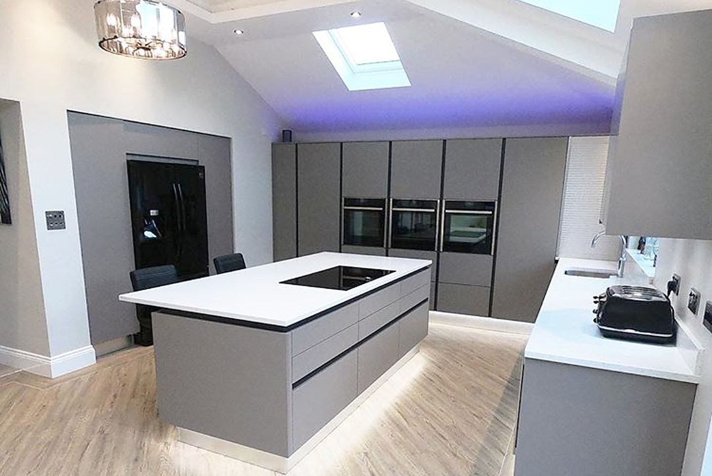 zurfiz true handless basalt grey matt kitchen